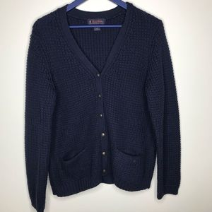 Brooks brothers chunky merino wool cardigan
